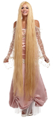 Economy 60-in LONG BLONDE STRAIGHT WIG Rapunzel Godiva Costume