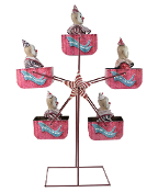 FERRIS WHEEL ANIMATED PROP Rotating Music Circus Carnival Clowns