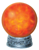 Fire-Ice WITCH MAGIC LIGHT ORB Crystal Ball Halloween Prop Decor