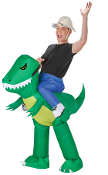 Funny INFLATABLE DINOSAUR RIDER Adult Unisex Instant Costume Gag