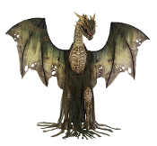 GREEN WINTER DRAGON ANIMATED 7FT Thrones Dead Zombie Deluxe Prop