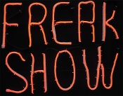 LED Light-Glo FREAK SHOW Halloween Window Sign Prop Decoration