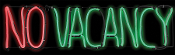 LED Light-Glo NO VACANCY Psycho Halloween Sign Prop Decoration