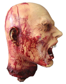 LIFESIZE SCREAMING SEVERED HEAD Halloween Horror Prop Decoration