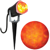 OUTDOOR LIGHT SHOW RED FIRE-ICE Rotating Orange Flame Spotlight
