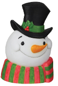 TALKING FROSTY SNOWMAN PLAQUE w-SOUND LIGHT Christmas Decoration