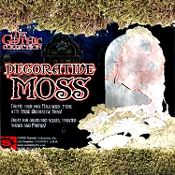 Halloween Gothic Horror Prop Floral Crafts-COMPRESSED SPHAGNUM MOSS-Tombstone Garden Plant Decoration. Decorative natural plant fiber for centerpieces, creepy graves and displays! Add a musty, moldy look to any haunted house cemetery graveyard scene.