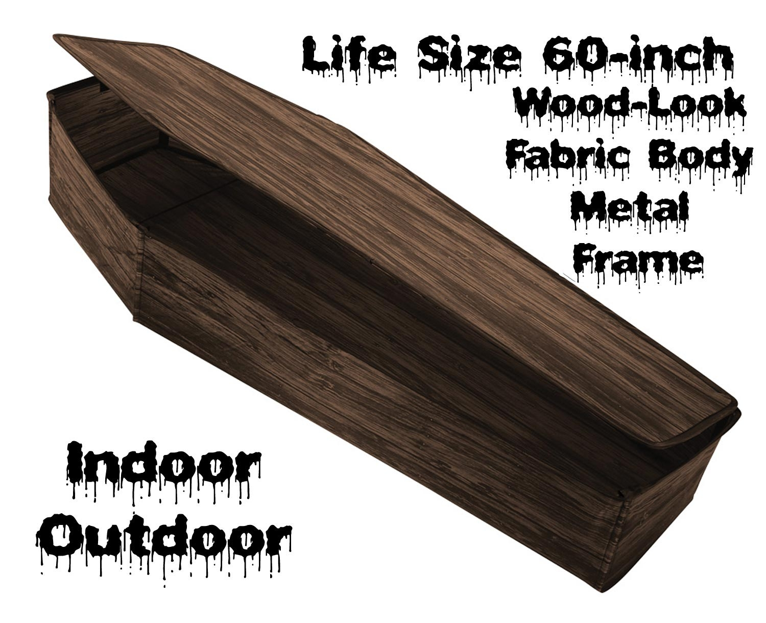 Life Size Instant Rip Coffin Prop Gothic Graveyard Cemetery