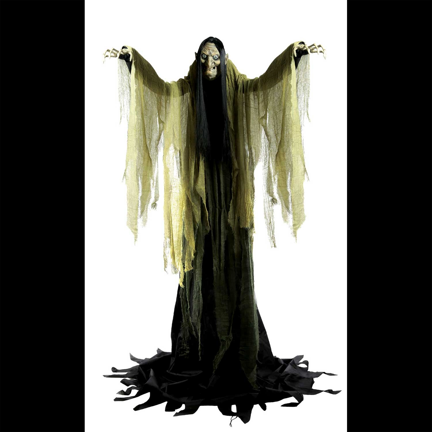 life size animated towering witch haunted house prop decoration